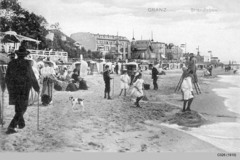 Strandleben in Cranz 1910